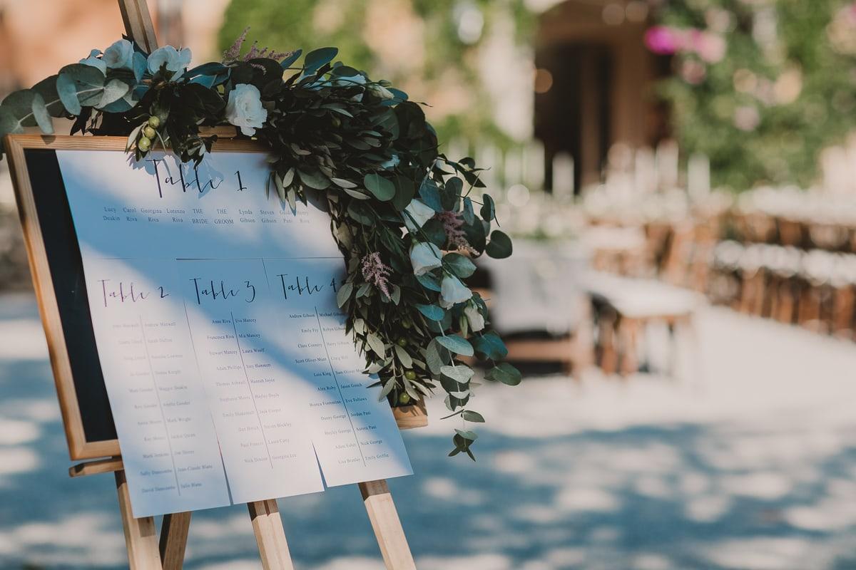 Tuscany wedding, details